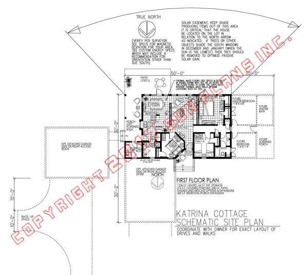 katrina cottage home they altered the design by adding a basement and a shallow deck across the south side that would not block too much sun to the - Katrina Cottage Plans