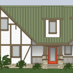Watch A Front Elevation House Plan For A South Facing 30x40 Site Video ...